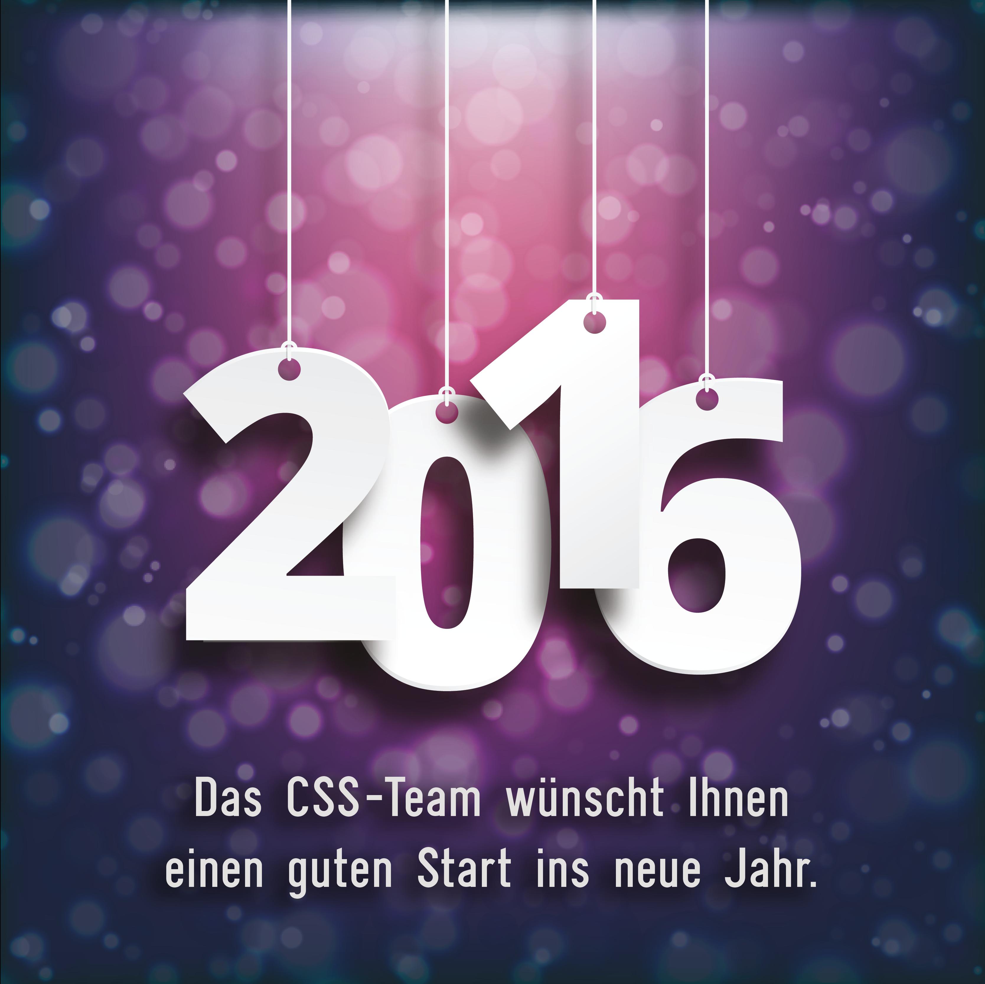 Gesundes neues Jahr | CSS Schilder & Gravuren